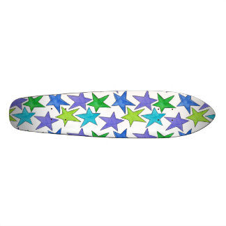 Color Stars Custom Skateboard