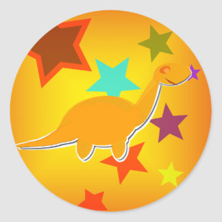 Color Stars Dinosaur Stickers
