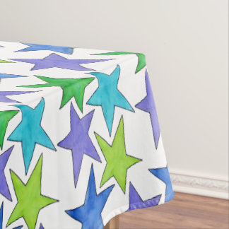 Color Stars - large Tablecloth