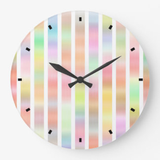 Color Streak by Julie Everhart Large Clock