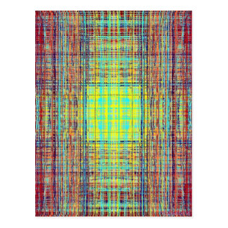 Color String Cube Postcard
