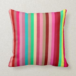 Color Stripes Throw Pillows