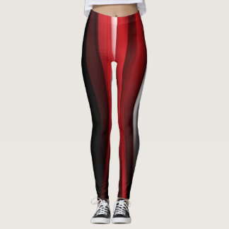 Color Strips Feather Leggings