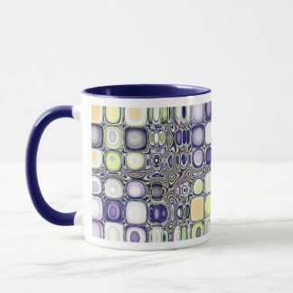 Color Studies...Blue Silverset Agate Mug