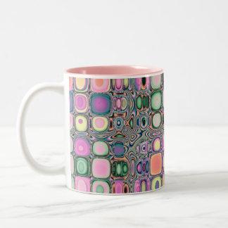 Color Studies...Silverset Pink Agate Two-Tone Coffee Mug