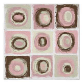 Color Study of Neapolitan Mix and Match Print
