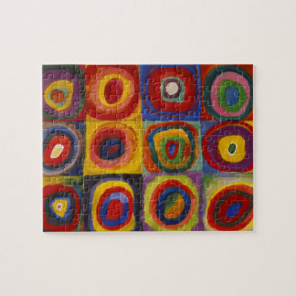 Color Study of Squares Circles by Kandinsky Puzzle