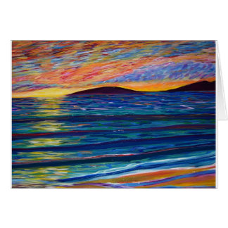 color sunset card