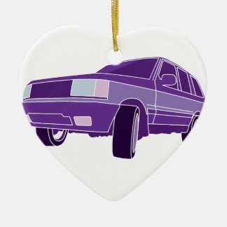 Color SUV Ceramic Ornament