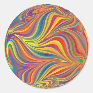 Color swirl classic round sticker