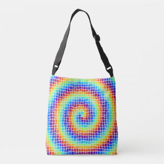 color swirl cross body bag