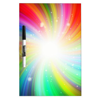 Color swirl dry erase board