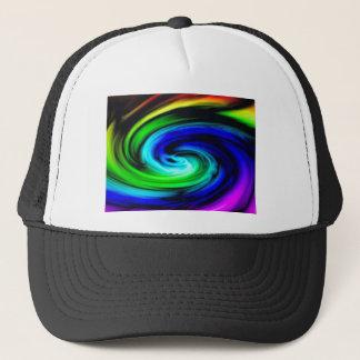 color swirl pattern trucker hat