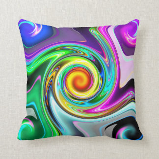 Color Swirl Reflection Pillow
