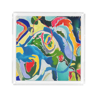 Color Swirls Acrylic Tray