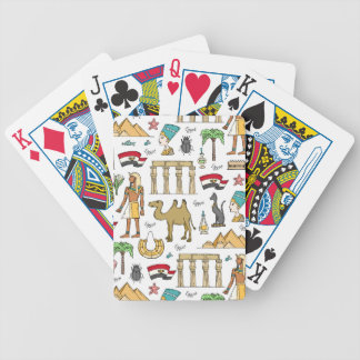 Color Symbols of Egypt Pattern Bicycle Playing Cards
