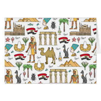 Color Symbols of Egypt Pattern Card