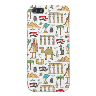 Color Symbols of Egypt Pattern Cover For iPhone 5/5S