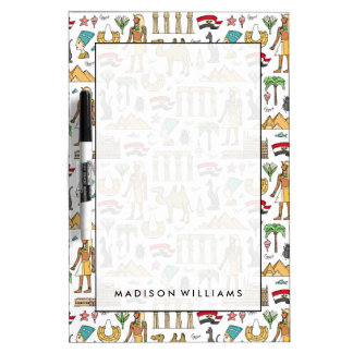 Color Symbols of Egypt Pattern Dry Erase Board