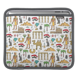 Color Symbols of Egypt Pattern iPad Sleeve