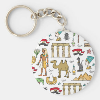 Color Symbols of Egypt Pattern Keychain