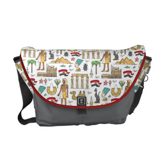 Color Symbols of Egypt Pattern Messenger Bag