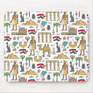 Color Symbols of Egypt Pattern Mouse Pad