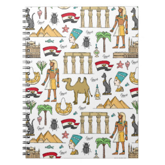 Color Symbols of Egypt Pattern Note Books