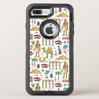 Color Symbols of Egypt Pattern OtterBox Defender iPhone 8 Plus/7 Plus Case
