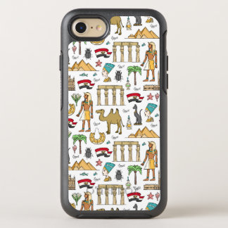 Color Symbols of Egypt Pattern OtterBox Symmetry iPhone 8/7 Case