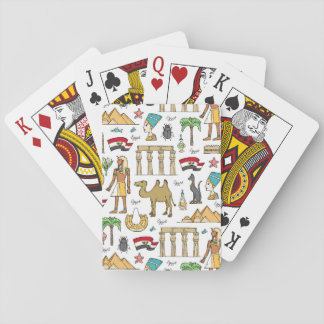 Color Symbols of Egypt Pattern Playing Cards