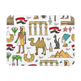 Color Symbols of Egypt Pattern Rectangular Photo Magnet