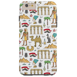 Color Symbols of Egypt Pattern Tough iPhone 6 Plus Case