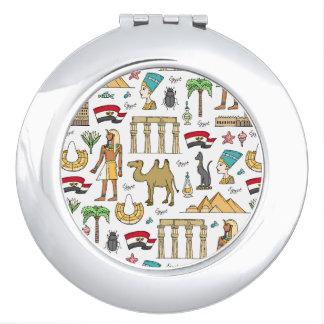Color Symbols of Egypt Pattern Vanity Mirror