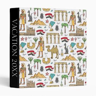 Color Symbols of Egypt Pattern Vinyl Binder