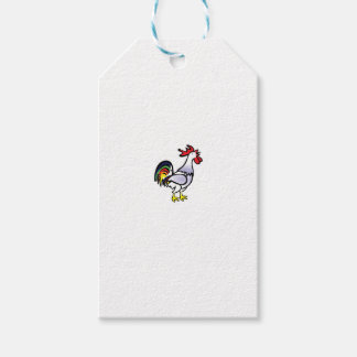 color tail rooster yeah gift tags