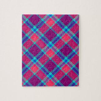 Color tartan texture jigsaw puzzle
