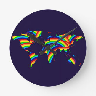 color the world ~ maps round clock