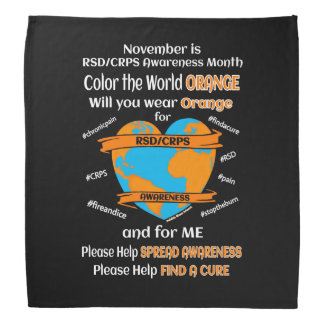 Color the World Orange...RSD/CRPS Bandana