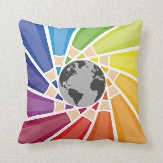 Color The World. Throw Pillow