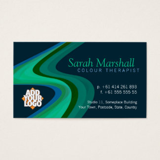 Color Therapy Green/Blue with Logo Business Card