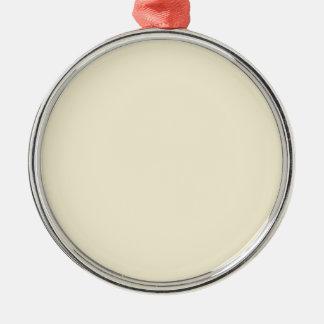 color vanilla metal ornament
