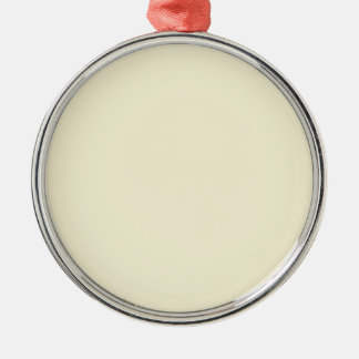 color vanilla Silver-Colored round ornament
