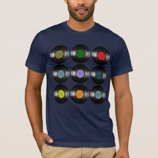 color vinyl records music T-Shirt