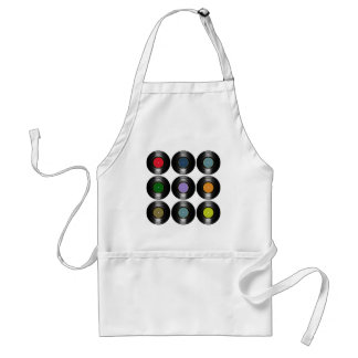 color vinyl records pattern standard apron