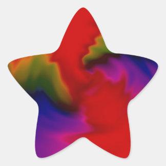 Color vortex star sticker