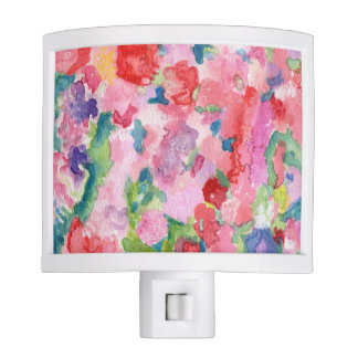 Color Wall Floral Art Night Light