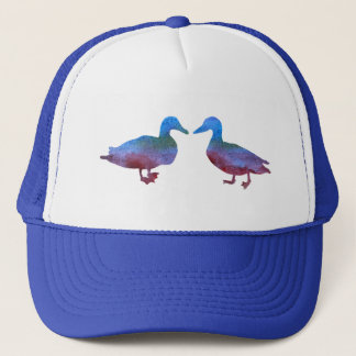Color Washed Kissing Ducks Trucker Hat