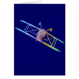 Color-washed Upside Down Stunt Plane Card