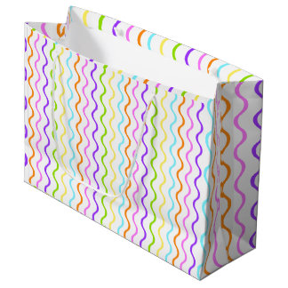 Color Wave Fun Paper Party Gift Bag